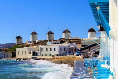 Hoppen Mykonos, Santorini